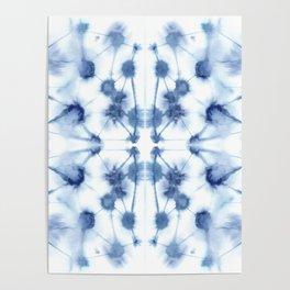 Mirror Dye Blue Poster