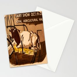 retro Dairy Show old psoter Stationery Cards