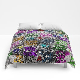 Bled Out Multi Glass Comforters