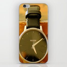 Time is on your side iPhone Skin
