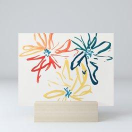 Gestural Blooms Mini Art Print