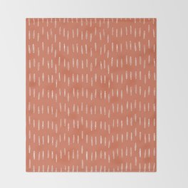 Boho Raindrop Abstract Pattern, Burnt Orange Throw Blanket