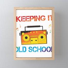 Colorful Keeping It Old School Classic Music Framed Mini Art Print