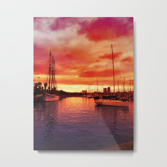 Spanish Marina II Metal Print