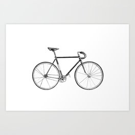 Bicycle - landscape Art Print
