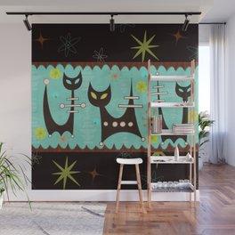 Atomic Cats Wall Mural