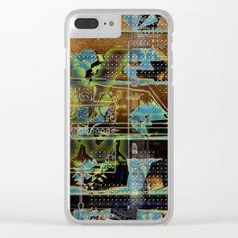 Glitch Cabinet Clear iPhone Case