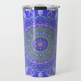 Chanukkah angel and candelar mandala-judaica-jewish holidays-joy-gift-wall hanging-energy Travel Mug