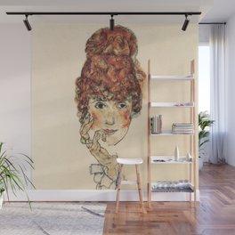 "Egon Schiele ""Portrait of Edith Schiele"" Wall Mural"