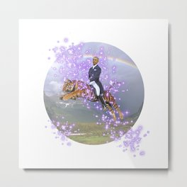 """""""We'll always have Barry"""" - Barack Obama on a Flying Tiger Metal Print"""