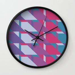 Abstract Drama #society6 #violet #pattern Wall Clock