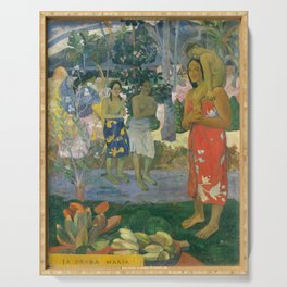 Hail Mary by Paul Gauguin Serving Tray