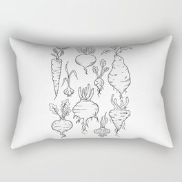 Root Vegetable Study Illustration Rectangular Pillow