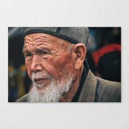 uzbek old man Canvas Print