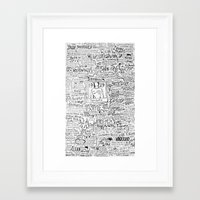 1989 Framed Art Prints featuring 1989 Typography by Faith