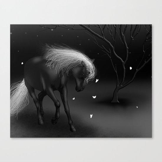 Black Horse Canvas Print