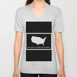 Black Lives Matter America Unisex V-Neck