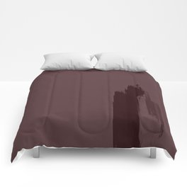 """Light Cherry Porstroke / Rose Gold (Pattern)"" Comforters"