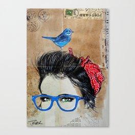 BLUE SPECS Canvas Print
