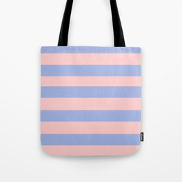 Light pink and blue stripes Tote Bag
