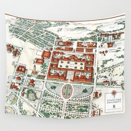 STANFORD CALIFORNIA University map Wall Tapestry