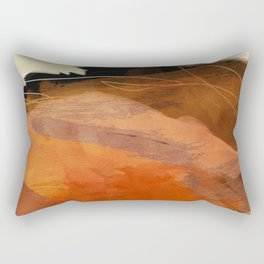 landscape in fall abstract art Rectangular Pillow