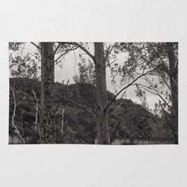Dark Silver Trees Rug