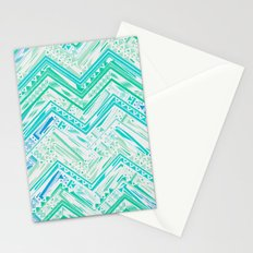 MINT ETHNIC CHEVRON Stationery Cards