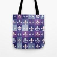 fleur de lis Tote Bags featuring Fleur de lis #1 by Camille