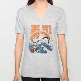 Moby Sushi Unisex V-Neck