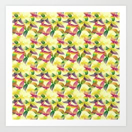 tropical transparences Art Print