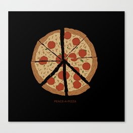 PEACE-A-PIZZA Canvas Print