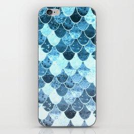 REALLY MERMAID SILVER BLUE iPhone Skin