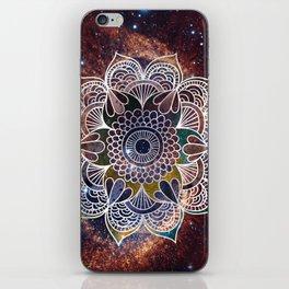 Space mandala n1 art print iPhone Skin