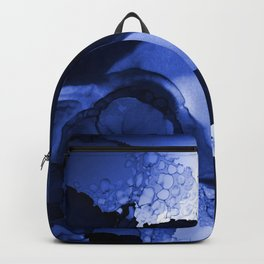 Abstract indigo ink art d171014 Backpack