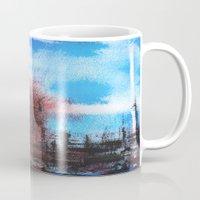 cityscape Mugs featuring Cityscape by Alfred Raggatt