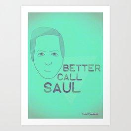 Breaking Bad - Faces - Saul Art Print