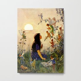 """Vintage Fairies' by Margaret Tarrant Metal Print"