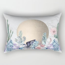 Desert Sun + Gemstones Gold Marble Rectangular Pillow