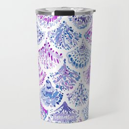 OCEAN PROTECTRESS Lavender Mermaid Scales Travel Mug