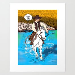 Frontier Tales: Jimmy and his horse Jack Art Print