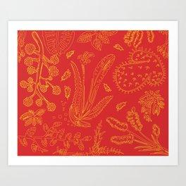Flora Pattern Art Print