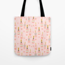 Rose all day - rose, wine, champagne, lady art, trendy fun girls art Tote Bag