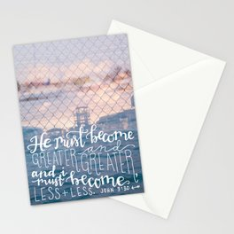 Greater & Greater  |  John 3:30 Stationery Cards