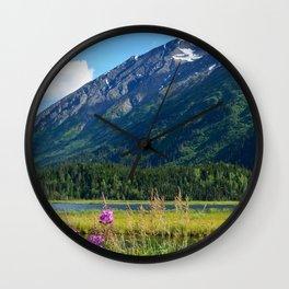 July at Tern Lake - II Wall Clock