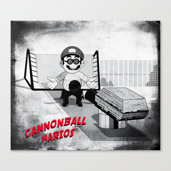 Cannonball Marios Canvas Print