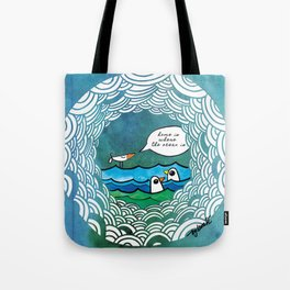 home is where the ocean is Tote Bag