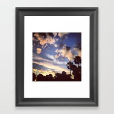 Palm Tree Sunrise Framed Art Print