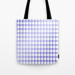 Modern geometric ultraviolet white diamonds patterns Tote Bag