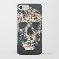 ali iPhone & iPod Cases featuring Vintage Skull by Ali GULEC